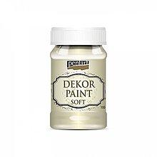 Farby-laky - Dekor Paint Soft 100 ml - slonovina - 9865537_