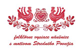 Náušnice - Folk visiace náušnice - 9864599_