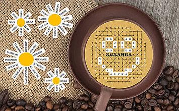 Grafika - Osemsmerovka v káve - 9864416_