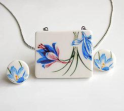 Sady šperkov - Modrý kvet - 9864594_