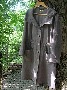 Kabáty - Ľanová športová bunda s kapucňou - 9865079_