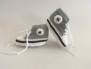 Topánočky - Háčkované tenisky - 9864118_