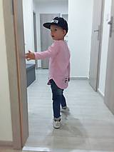 - Predĺžené tričko ružové melé - RVL (80) - 9865388_