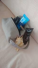 Tašky - Pánska kozmeticka ľanová taštička - 9864596_
