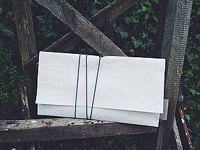 Kabelky - Papierové psaníčko white symetric - 9863998_