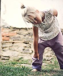 Detské oblečenie - Lněné kapsičkové mauve - 9864373_