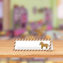 Papiernictvo - Minimalistická menovka do lavice pre prváčikov - koníček - 9864875_