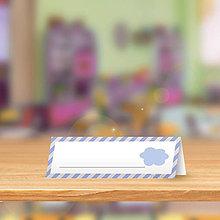 Papiernictvo - Minimalistická menovka do lavice pre prváčikov - obláčik - 9864878_