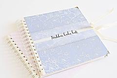 Papiernictvo - Svadobná kniha hostí - Orchidea modrá 20x20 - 9866580_