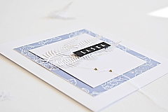 Papiernictvo - Svadobný pozdrav - Orchidea modrá - 9866622_