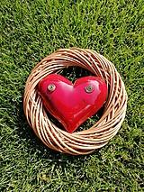 Dekorácie - Srdce vo venci č.14 - 9865764_
