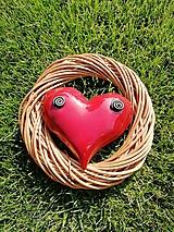 Dekorácie - Srdce vo venci č.15 - 9865773_