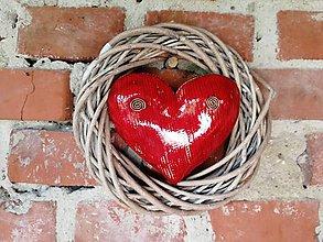 Dekorácie - Srdce vo venci č.17 - 9865787_