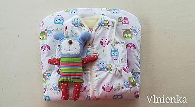 Textil - Spací vak pre deti a bábätká ZIMNÝ 100% MERINO na mieru Sovičkový - 9867016_