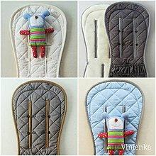 Textil - Podložka do kočíka CYBEX Priam Platinum a Balios S /Balios M 100 %merino top super wash obojstranná - 9867029_