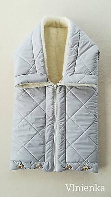 Textil - Deka DANIEL 100% merino Top Super wash ELEGANT 2 v 1 GREY pastelová šedá - 9867075_