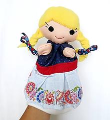 Hračky - Maňuška folk dievčinka - Katka - 9865794_