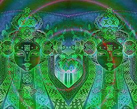 Obrazy - Brána (Fine Art Print S-XL) tajomná noc - 9865767_