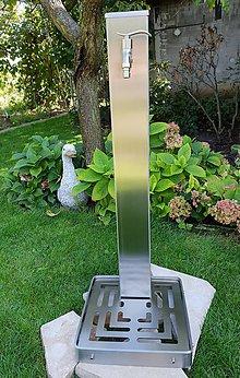 Nezaradené - Nerezový záhradný vodovod s roštom - 9866925_