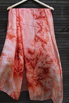 Šatky - hodvábne pareo_silk scarf_orange - 9866503_