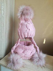 Detské čiapky - Ružová supravička - 9865771_