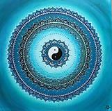 Obrazy - Mandalka ZDRAVIE A IMUNITA (silver - tyrkys) 50 x 50 - 9867140_