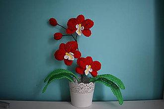 Dekorácie - Háčkovaná orchidea - 9865833_