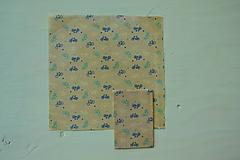 Úžitkový textil - Včelí ekoobal 25*25 (Pestrofarebná) - 9867916_
