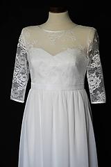 Šaty - Svadobné šaty pre tehotné nevesty - 9866389_
