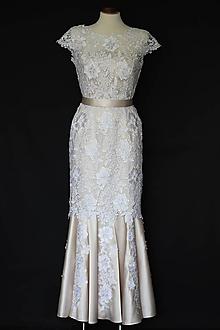 Šaty - Svadobné šaty strih morská panna z hrubej krajky - 9866435  8e04de8d2d8