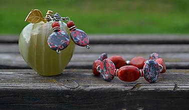 Sady šperkov - Koral a syn.tyrkys sada - 9866781_