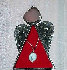 Socha - Tiffany anjelík červený