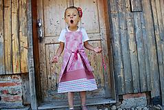 Detské oblečenie - DIEVČENSKÉ ŠATY/ZÁSTERKA - 9867850_