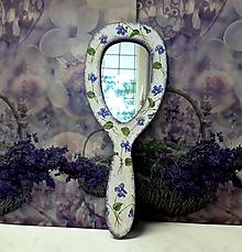 Zrkadlá - vintage zrkadielko do ruky - 9866002_