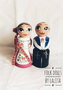 Socha - Folk dolls č.3 - drevené bábky v kroji - 9868997_