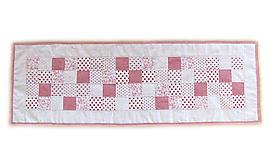 Úžitkový textil - Obrus režný malé štvorčeky - 9869251_