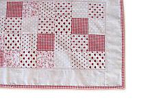 Úžitkový textil - Obrus režný malé štvorčeky - 9869254_