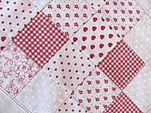 Úžitkový textil - Obrus režný malé štvorčeky - 9869257_