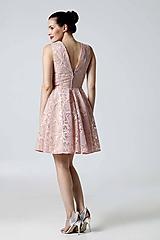 Šaty - Šaty krajkové ružové - 9870113_