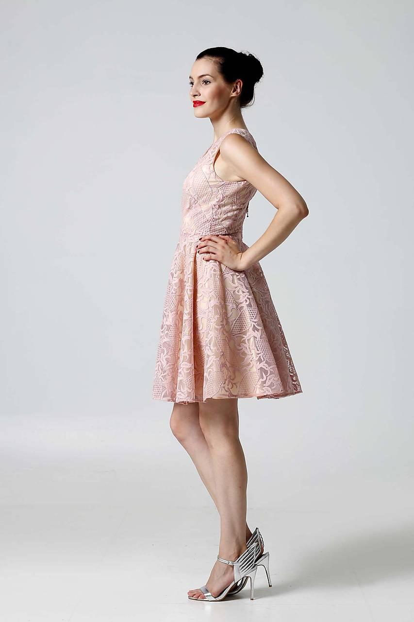 a972fd2540cd ... Šaty - Šaty krajkové ružové - 9870116  ...