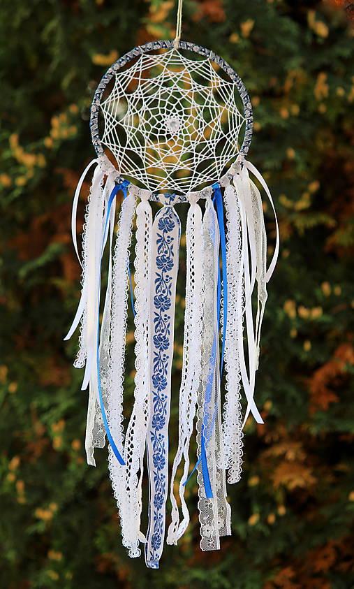 folklórny lapač snov modrý