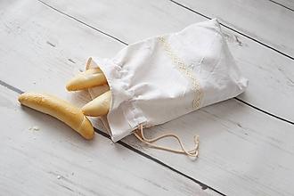 Úžitkový textil - Ľanové vrecko na pečivo - 9868204_