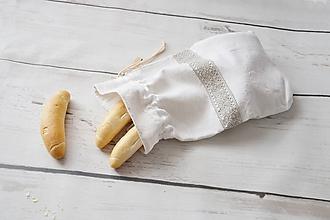 Úžitkový textil - Ľanové vrecko na pečivo - 9868206_
