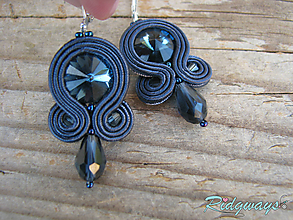 Náušnice - Simple...soutache (Montana Blue) - 9868516_