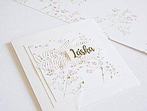 Papiernictvo - Svadobný pozdrav - Gypsomilka IV - 9870877_