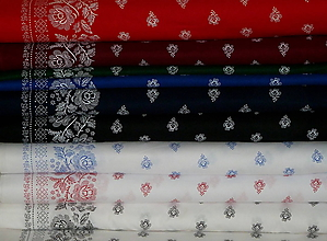 Textil - Látka Bordúra Folk (Modrá na bielej) - 9870889_
