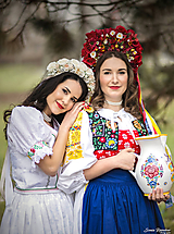 "Ozdoby do vlasov - Kvetinová červená bohato zdobená ľudová parta ""Sen nevesty"" - 9868257_"