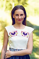 Šaty - Saténové modré šaty Poľana - 9869193_