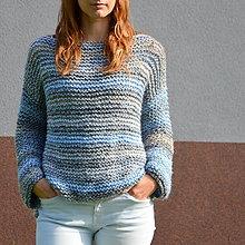 """Svetre/Pulóvre - sveter """"to STREET"""" k džínam v modrej - 9868734_"""