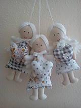 Dekorácie - levanduľové MINI anjeliky - 9868546_